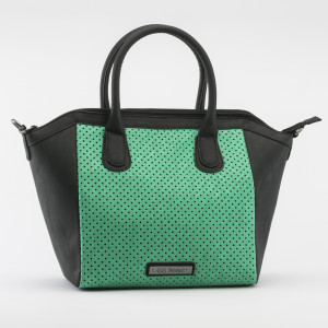 HB-62 Perforated Star Tote Aqua High Res